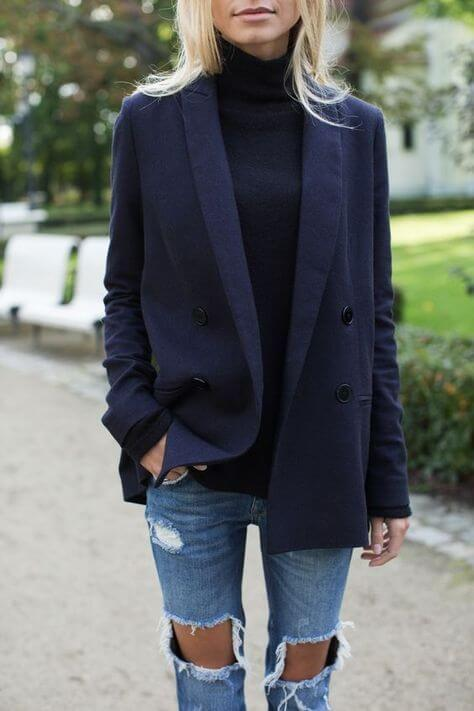 enlogated jacket - How to dress like a woman not a girl.
