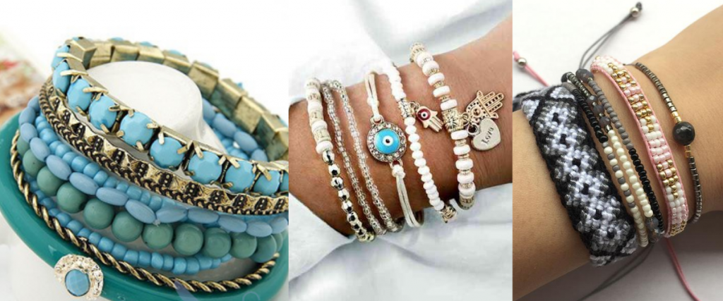 bracelet sets 1 1024x427 - Types of accessories for ladies and girls