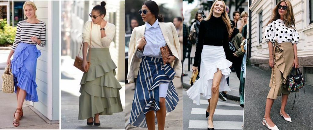 long skirts types 1024x427 - Pretty summer skirts which are always in fashion.